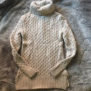 J. Crew heavy cable knit turtleneck sweater